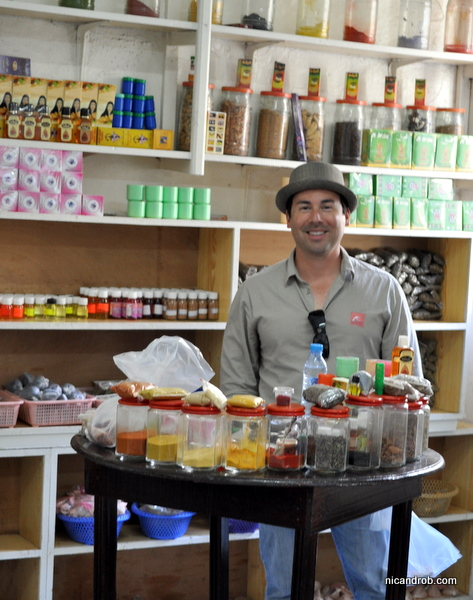 Rob in the herb store!