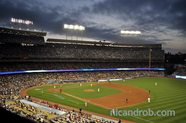 Wordless Wednesday: Sunset at Dodger Stadium