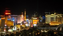 Las Vegas Strip view, at night
