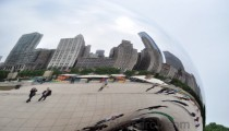 Nic, Rob, The Chicago Skyline and The Bean