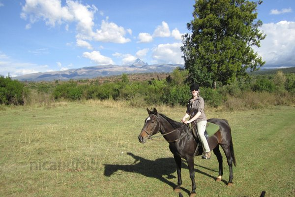 Riding at Mount Kenya