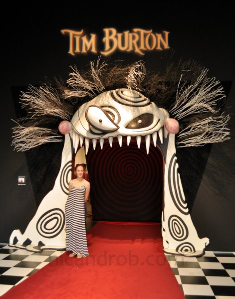 Tim Burton Exhibition Entrance