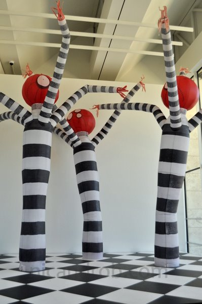 Striped Burton Creatures fro LACMA