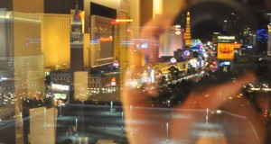 Wordless Wednesday: Las Vegas Strip, reflected