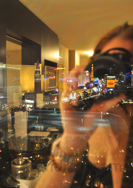Vegas Strip, reflected