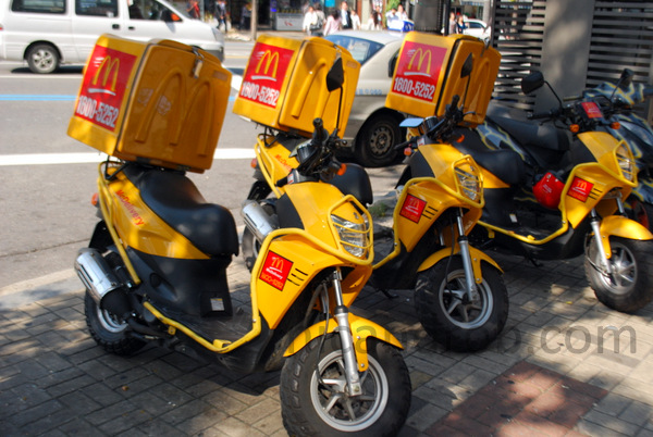 McD's delivery scooters