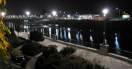 The view at night, Napa River Inn