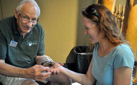 Nic holding a tarantula