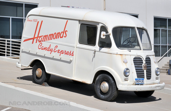 Hammond's Candies Mascot Truck