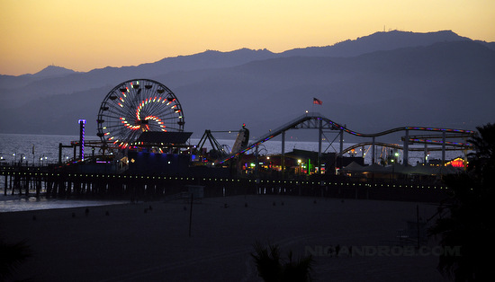 Wordless Wednesday: Twilight over the Santa Monica Pier