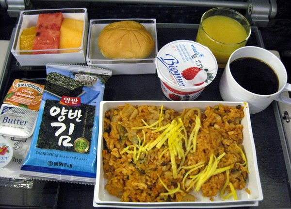 Kimchi Fried Rice on Singapore Airlines