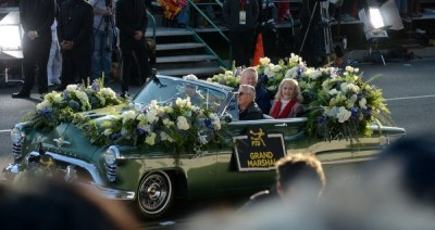 The Rose Parade Grand Marshall was Vin Scully - the voice of the LA Dodgers!