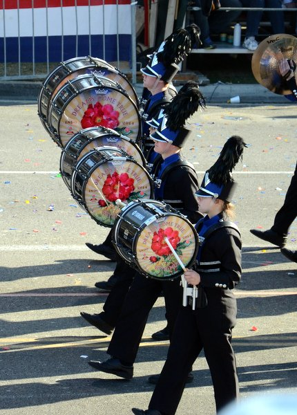 All the drums in the parade were decorated for the occasion