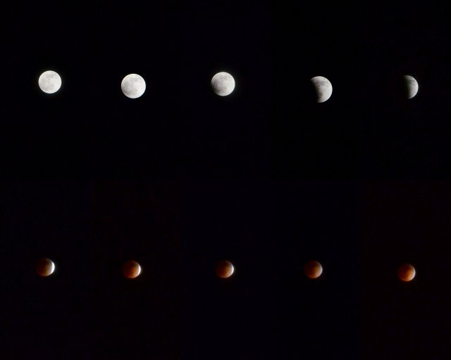 Blood Moon Eclipse, Time Lapse