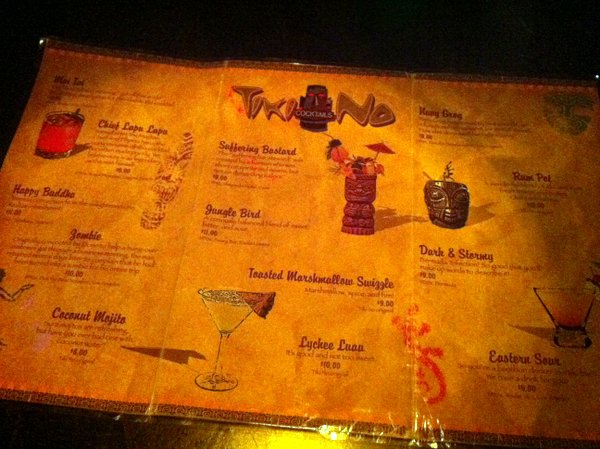 Tiki No menu